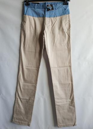 Мужские подростковые штаны брюки французского бренда promod , xs   сток европа
