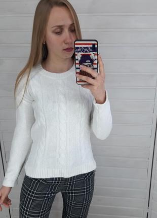 Белый теплый свитер new look