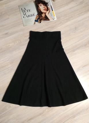 Отличная стильная тёплая юбка макси черная