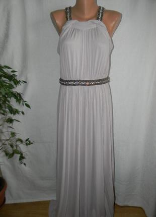 Новое платье в пол с отделкой coast