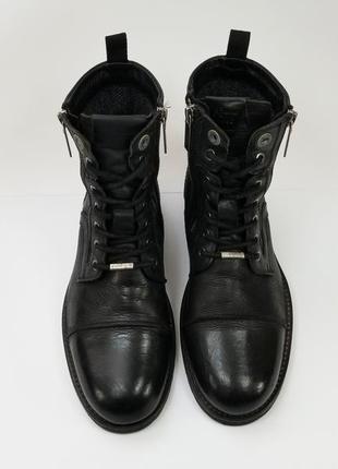 Pepe jeans london чорні чоловічі шкіряні черевики на стопу 27 см 7.5 uk