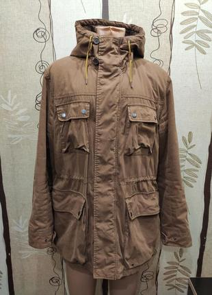 H&m мужская утеплённая куртка парка