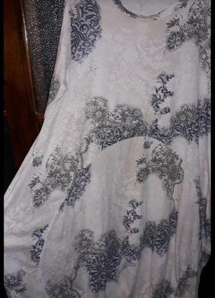 Новое итальянское платье стиль бохо, оверсайз, коттон стрейч,
