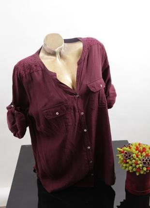 Блуза марсал цвет 50 -52 размер