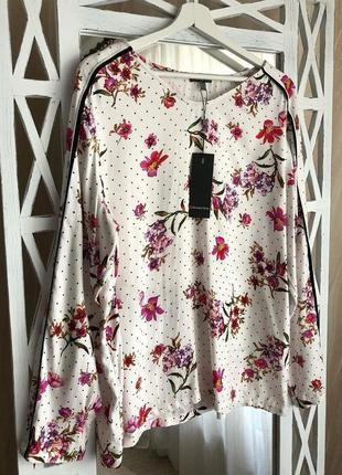 Красивая блуза с лампасами в цветочный принт street one