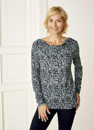 Женская трикотажная блуза реглан лонгслив esmara евро 40-42