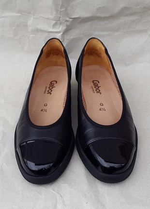 Кожаные лоферы туфли балетки gabor petunia 37 р.
