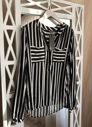 Стильная блуза-рубашка в горизонтальную полоску street one