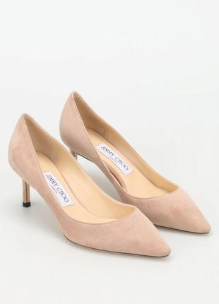 Замшевые туфли kitten heel jimmy choo