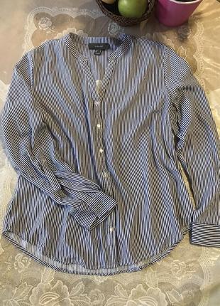 Стильная блуза-рубашка в полоску