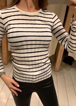 Полосатый свитер в рубчик кофта тельняшка house есть размеры