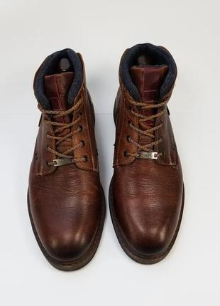 Enzo bertini made in albania мужские кожаные ботинки на осень зиму коричневого цвета