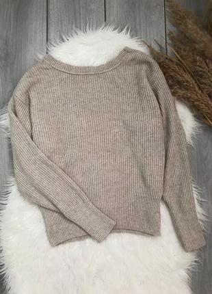 Pull&bear свитер оверсайз стильный сзади вырез размер м