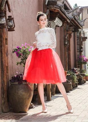 Фатиновая юбка пышная