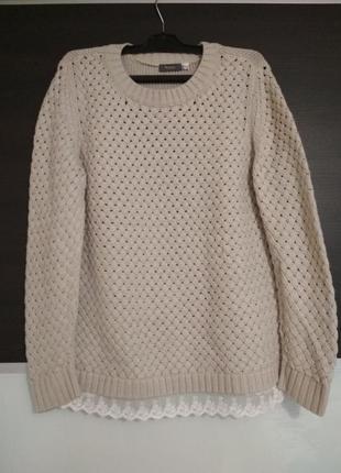 Красивый теплый мягкий свитер,пуловер yessica