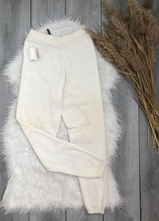 Marco pecci новые штаны лосины подштанники  молочного нежного цвета s /m в составе шерсть