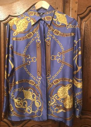 Шелковая рубашка в стиле hermès