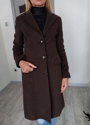 Оливковое шерстяные пальто sisley