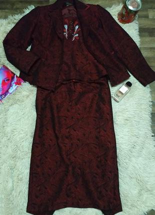 Костюм тройка пиджак, юбка, жилетка