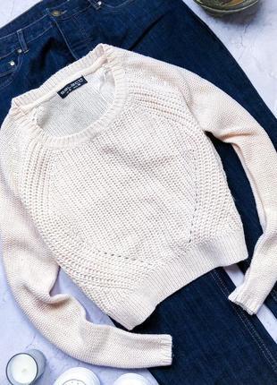 Модный свитер крупной вязки uk10 selected femme