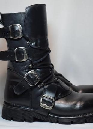 Ботинки new rock сапоги кожаные. испания. оригинал. 42 р./ 27.5 см.