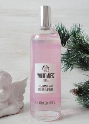 Аромат для тела the body shop white musk® flora bodyspray, 100 мл, привезен из германии