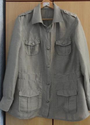 Супер брендовая куртка пиджак жакет ветровка лен