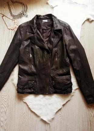 Куртка кожанка косуха черная граффит с молниями на рукавах батал большой размер