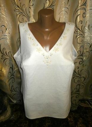 Шикарная блуза из фактурной ткани на пышные формы george