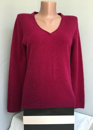 Джемпер пуловер кашемировый пурпурный, марсала, 100% кашемир.