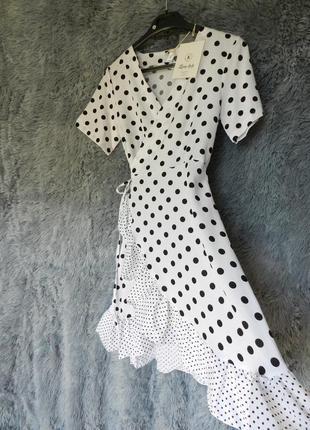 ⛔✅ красивое платье на запах в разноколиберный горох