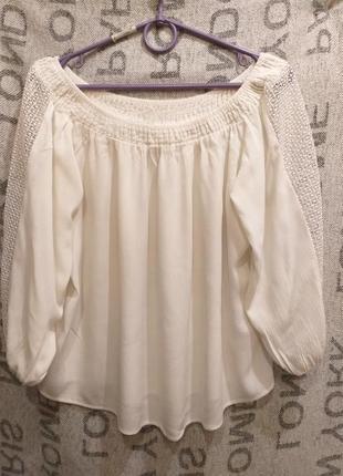 Белая кремовая блуза f&f