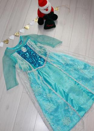 Карнавальное платье эльзы на 4-5 лет