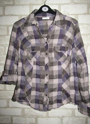 Рубашка в клетку р-р л-12 бренд bonita