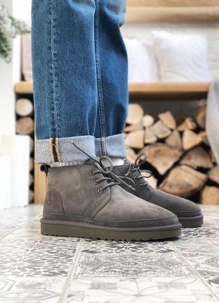 Шикарные мужские зимние ботинки  ugg в сером цвете (осень-зима-весна)😍