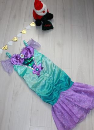 Карнавальное платье костюм русалка на 3-4 года