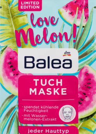Тканевая маска balea для интенсивного увлажнения кожи сочный арбуз 1 шт