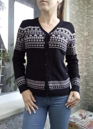 Теплый шерстяной джемпер кофта свитер