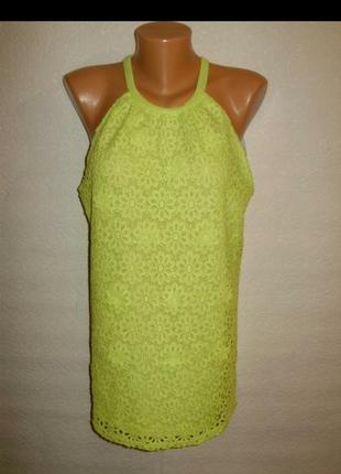 Красивая блуза топ с кружевом кроше 16/50-52 размера