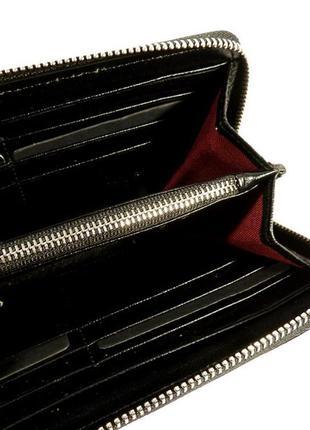 купить кожаный черный лаковый кошелек фирмы шанель