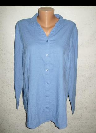 Льняная рубашка лен-вискоза 18/52-54 размера