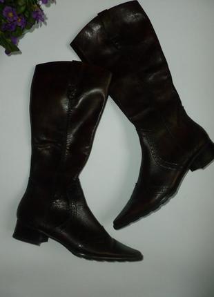 Оксфорды с удлиненным носком сапоги 100% натуральная кожа маленький размер новые