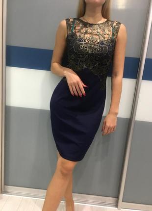 Платье с кружевом avon