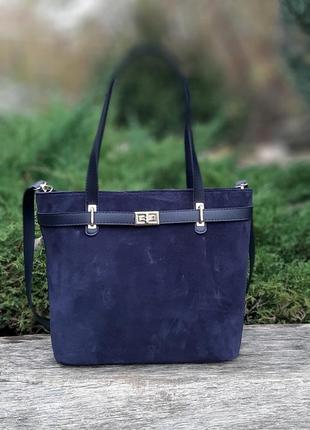 Стильная женская замшевая сумка