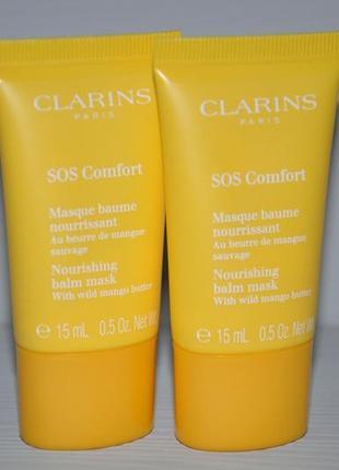 Питательная маска для лица с маслом манго clarins sos comfort мини 15мл