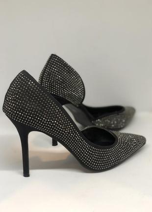 Замшевые туфли в стразах atmosphere 42р