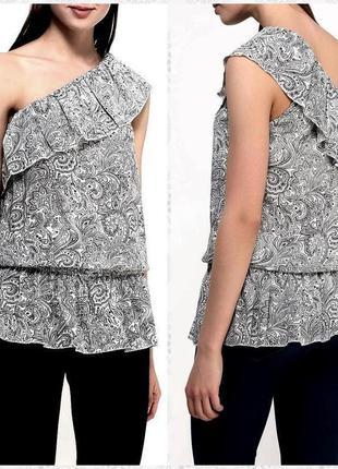 Блуза с баской летняя без рукавов