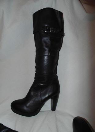 Сапоги ботфорты ботинки с утеплением baldaccini оригинал кожа натуральная