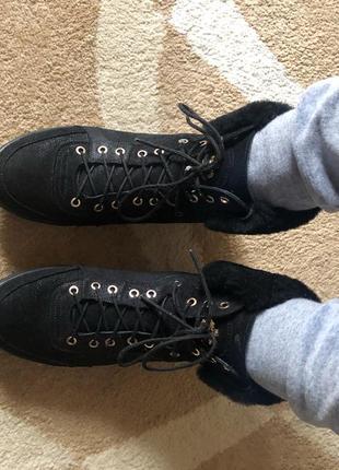 Зимние ботинки на цигейке alta moda