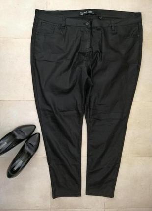 Стильные штаны джинсы под кожу большого размера